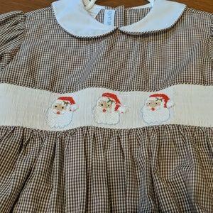 VIVE LA FETE Smocked Christmas Dress